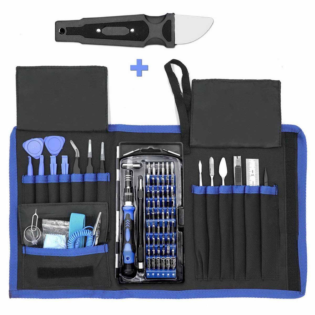 Multi-function screwdriver set 80-in-one manual combination kit mobile phone computer teardown repair daily household
