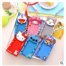 Cartoon Lanyard Bus Entrance Card sSets Silicone School License Neck Hung The Breastpiece Work Card Card Set Of Documents