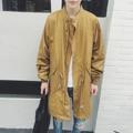 De calidad superior para hombre de largo trench coat hombres europa sping suelto gabardina trenchcoat chaqueta masculina moda de la calle ocasional outwear W926