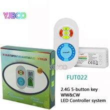 2.4G FUT022 RF Milight DC12V 24V dual white CT color temperature and brightness adjusting dimmer controller for led WW&CW strip