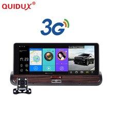 Quidux Новые Full HD Автомобильный видеорегистратор GPS Android 7 дюймов Touch Dual Camera Wi-Fi Авто камеры автомобильный Центральной Консоли автобус грузовик камеры автомобиля