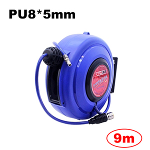 Image 1 - Tuyau dair pneumatique pour automobile, 9M, avec Tube PU, diamètre de 8MM, ID 5MM, enrouleur rétractable automatique, tambour télescopique PU8 * 5