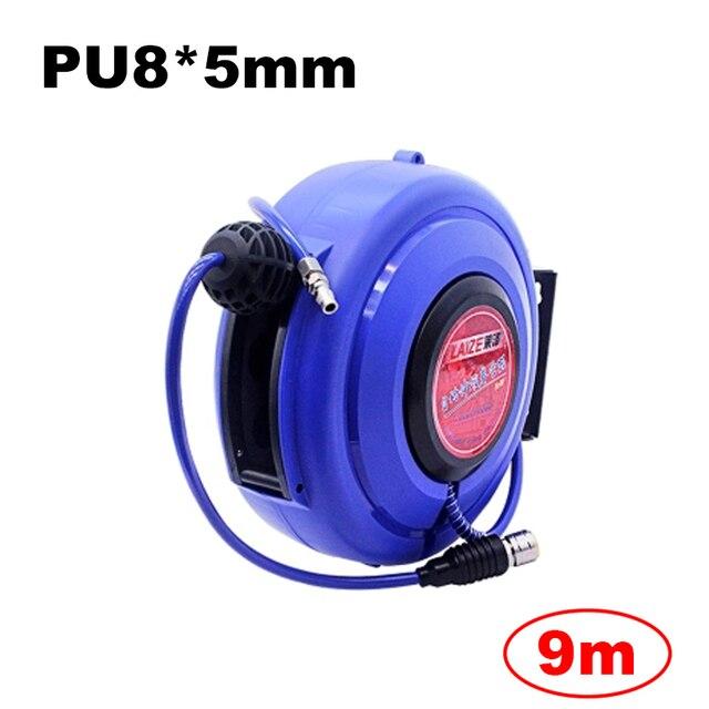 Tuyau dair pneumatique pour automobile, 9M, avec Tube PU, diamètre de 8MM, ID 5MM, enrouleur rétractable automatique, tambour télescopique PU8 * 5
