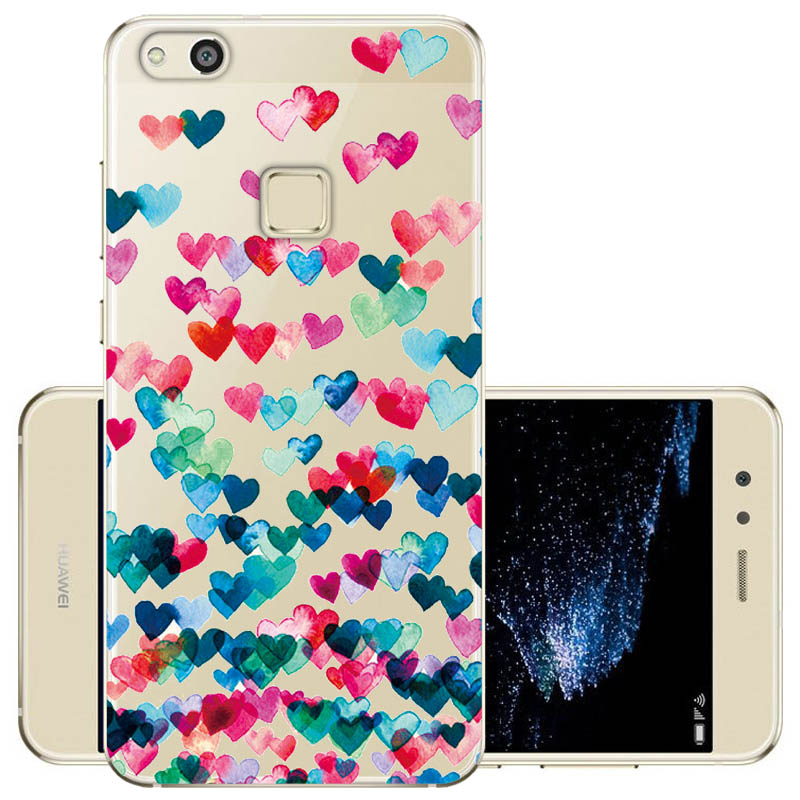 For TPU Huawei P10 Lite Case Cartoon Soft Silicone TPU Back Cover Case For Huawei P10 Lite Phone Case
