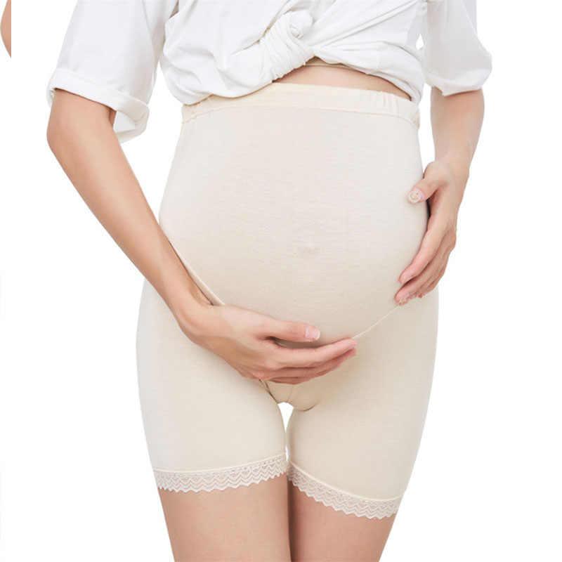 สตรีคลอดบุตรกางเกง Shapewear ต้นขากลาง Pettipant Seamless ชุดชั้นในสำหรับสตรีตั้งครรภ์ผ้าฝ้าย