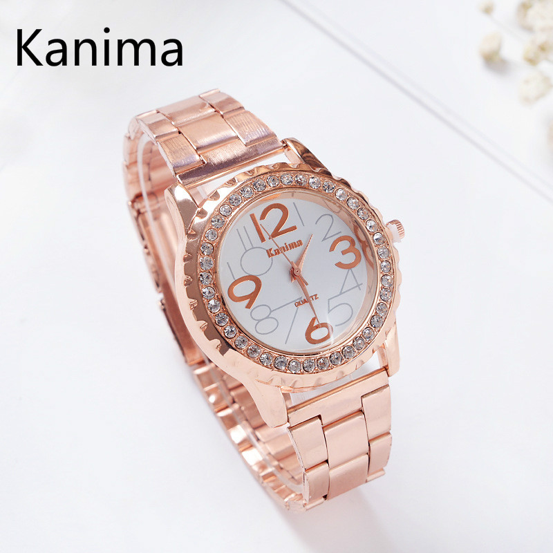 Women Watch Stainless Steel Rhinestone Gold Quartz Watches Fashion Luxury Ladies Watch Brand Clock Wristwatch Relogio Feminino