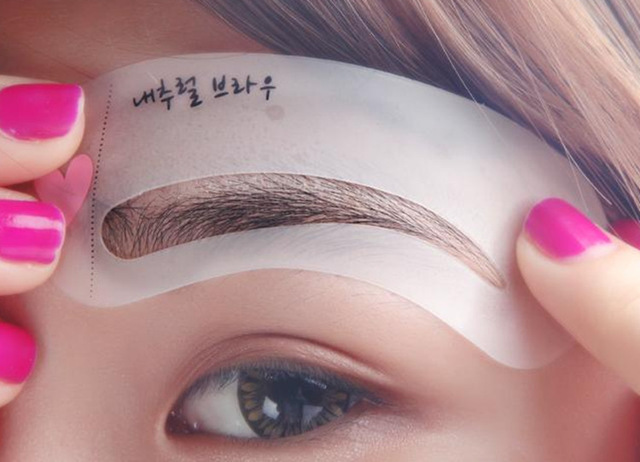 Wholesale 10,000packs (30,000pcs) Eye brow Shape 3 Styles Reusable Eyebrow Drawing Guide Eyebrow Stencil Template Shaping Card 1