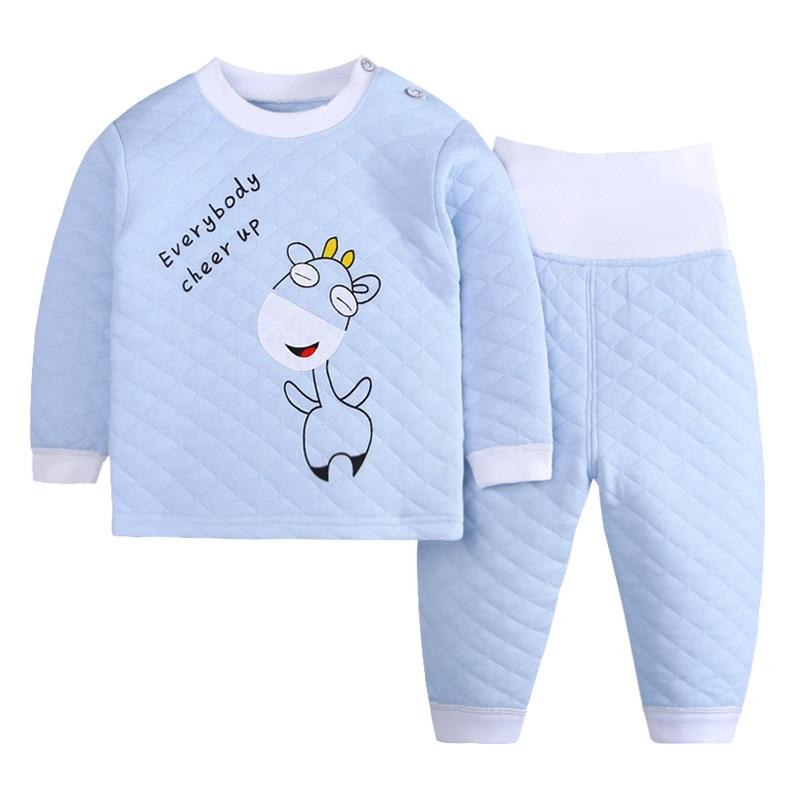4679f0a8f Winter Children Fleece Pajamas Warm Flannel Sleepwear Baby Girls ...