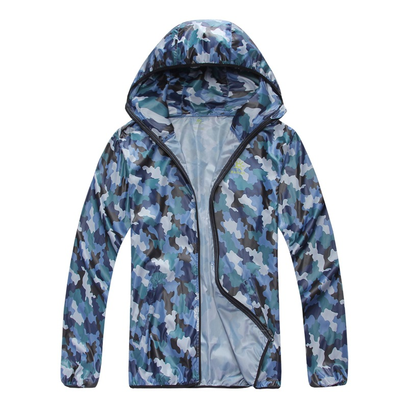 2018 Fashion Wind Clothing Quick Dry Top Men Women Camouflage Water Repellency Proof Sunblock Skin Anti UV Jackets Free Shipping