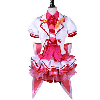 Free shipping Anime LoveLive! cosplay Cartoon Halloween party cos Kousaka Honoka Sweet Princess pink costume Arcade after school