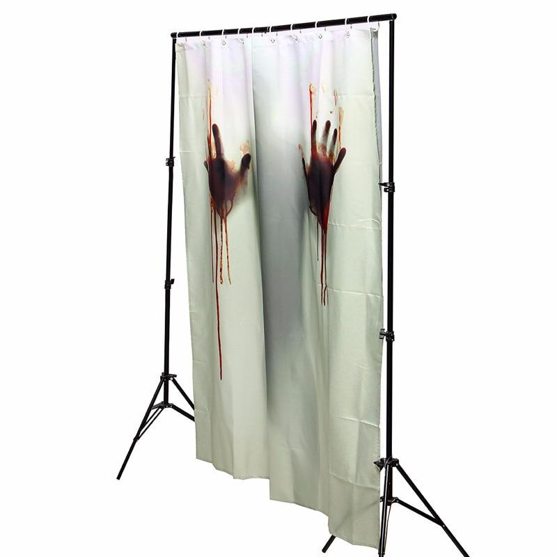 Compra cortinas de halloween online al por mayor de china for Ganchos cortina bano