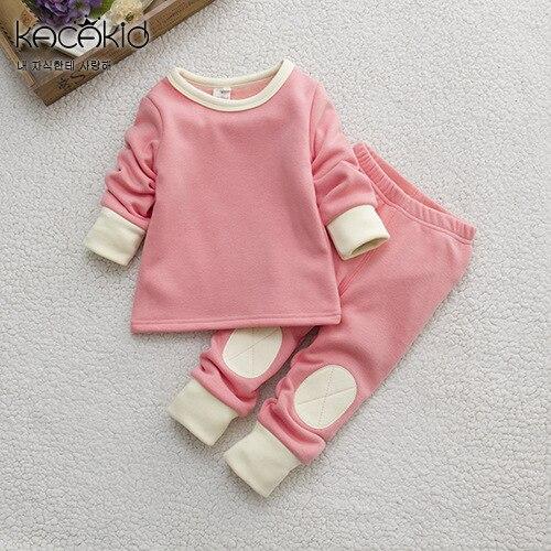 Winter Children Boys Girls Pajama Set Cute Cotton Pullover Children Pajama Set Baby Boy Girls Set Thickened Clothing Set
