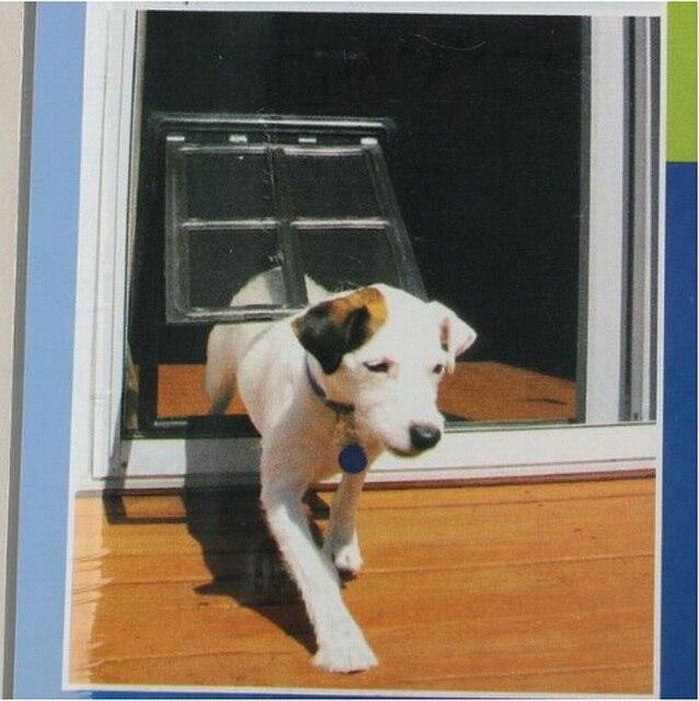 Hot Sale White Safe Pet Cat Big Dog Door 2 Way Locking Lockable Door