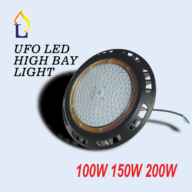 5 pcs/lot led UFO high bay light 100W 150W 200W Industrial light led flood light waterproof ip65 AC100-277V outdoor lighting 1000led led gas station light 150w 16 000 lumen 500w 650w hid hps equal daylight 5 000 kevin ac100 277v waterproof ip65 canopy