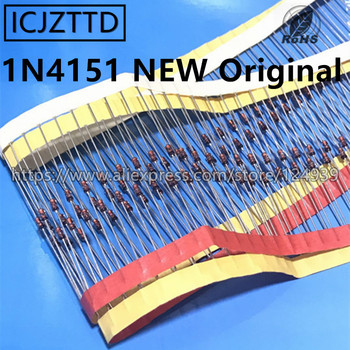 100 piezas 1N4150 1N4151 1N4152 1N4150TR IN4150 50 V 200MA hacer-35 1N4151 1N4151TR 1N4151TAP 50 V 150MA 1N4152TR IN4152DO35 nuevo Original