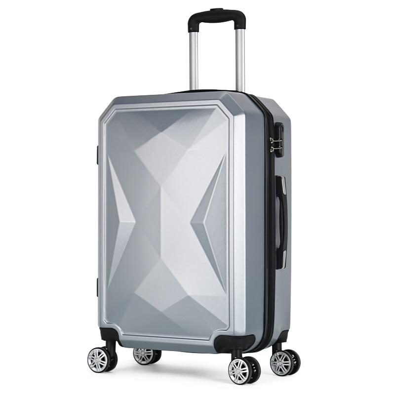 Letrend di Colore di Modo ABS Trolley Spinner Donne Trolley Valigia Ruote 20/24 pollici Carry Sulla Borsa Da Viaggio Hardside Tronco - 2