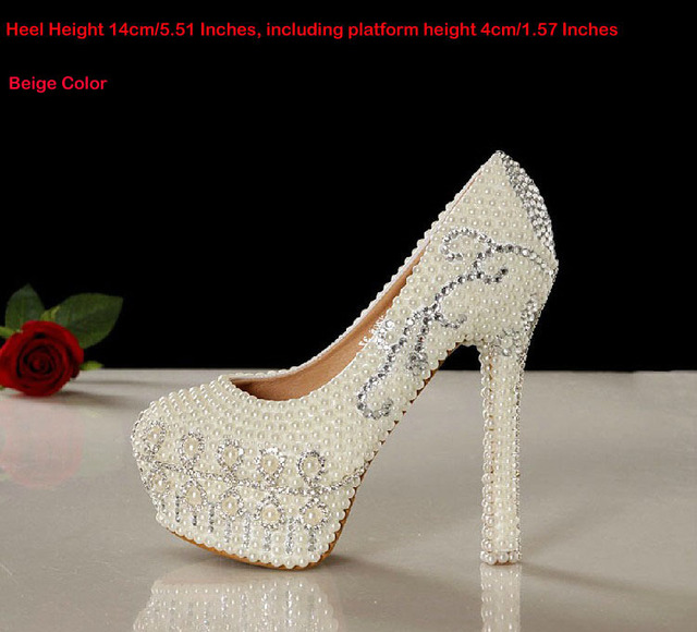 0aafd045cdae Gorgeous 14cm Heel Pretty Wedding Shoes Sparkling White Bridal Dress Shoes  Shoes Rhinestone Formal Dress Shoes