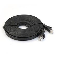 50pcs/lot Pure copper wire CAT6 Flat UTP Ethernet Network Cable 20m 66ft RJ45 Patch LAN cable black/white color