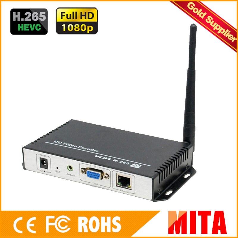 Encodeur vidéo HD H.265/264 SDI WiFi pour diffusion en direct vers les Codes Xtream du serveur multimédia VLC
