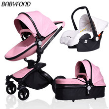 2 in 1 Baby stroller 360 degree rotate child car light folding shock absorbers baby stroller bb car including  baby nest