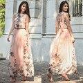 Vestidos De Fiesta New Arrival Bohemian Off The Shoulder Ankle-length Dress Spring/summer 2017 Women's New Dress Big Yards Long