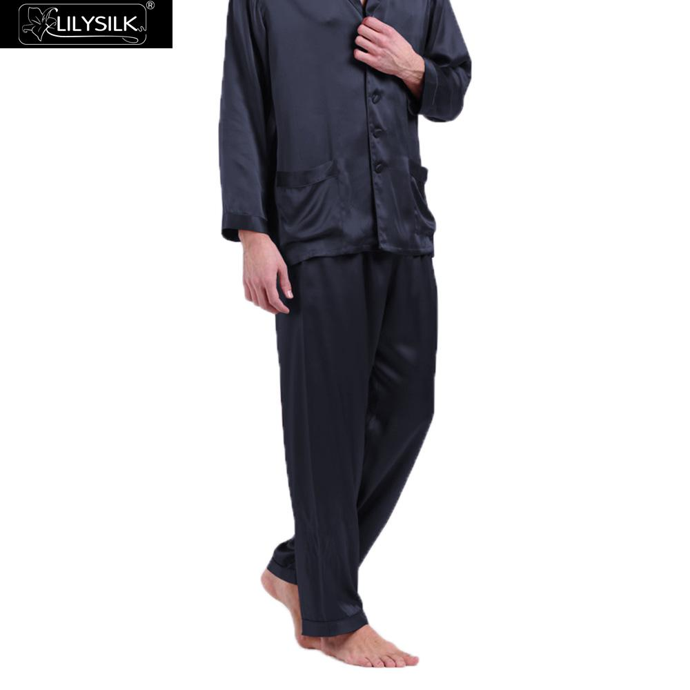 LilySilk Pajama Pants For Men Pure 100 Silk 22 momme Luxury Natural Long Men s Clothing