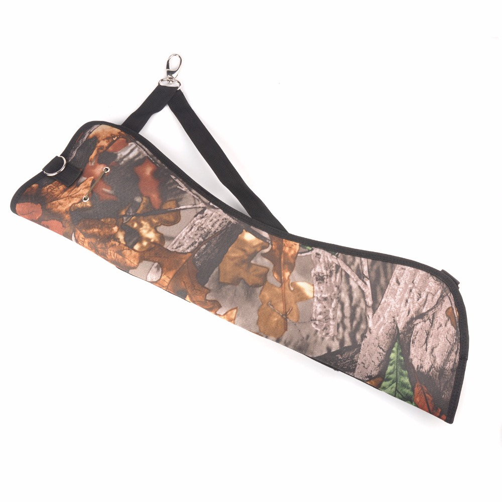 High Quality 57.5X18cm Arrows Quiver Oxford Hard Leather in Camo Archery Arrow Holder for Ourdoor Hunting Shooting Bag