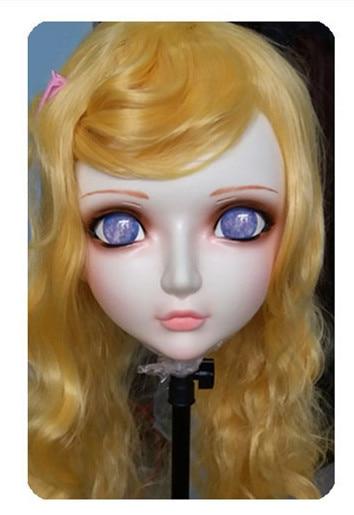 Novelty & Special Use Women/girl Sweet Resin Half Head Kigurumi Bjd Mask Cosplay Japanese Anime Lifelike Lolita Mask Crossdressing Sex Doll Boys Costume Accessories gl028