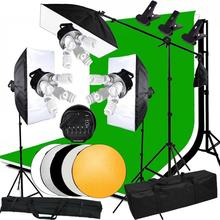 ZUOCHEN Photo Studio 3375W Softbox Continuous Lighting kit Boom arm Backdrop Light Stand