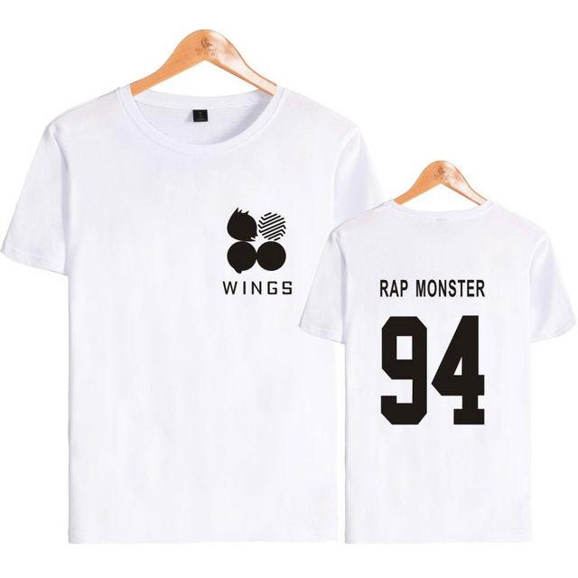 BTS WINGS Logo T-Shirt Sweater Shortsleeve Tee