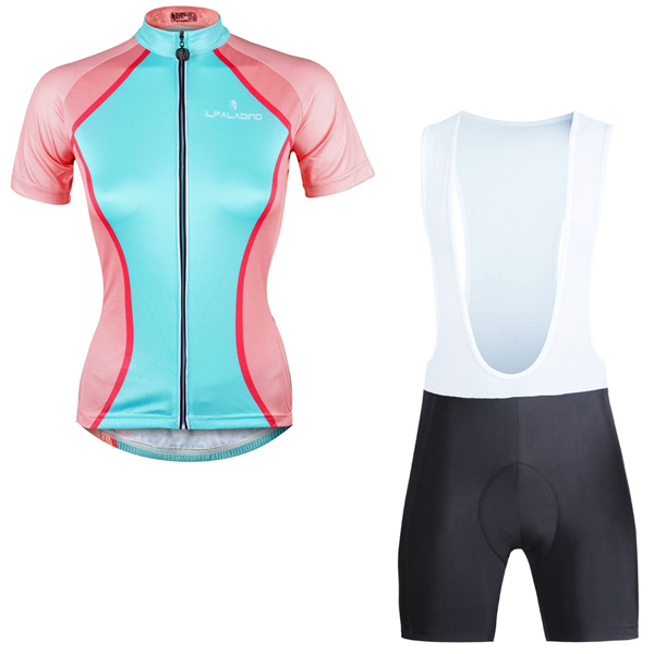 Women/'s Short Sleeve Athletic Cycling Jersey Full Zipper Breathable