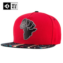 2018 Brand New Red Hip Hop Hat For Man Women Coloured Brim Africa Map Baseball