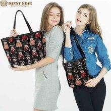 DANNY BEAR Moda Jacquard Bolsas Para Damas 2 UNIDS Set Mujeres Grandes Bolsas de Hombro Bolsos Ocasionales Pequeña Bolsa de Mensajero de Luz peso