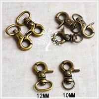 67c53572f DIY Sewing Accessories Bag Belt Lobster Buckle Vintage Bronze Color Metal  Clasp 50sets Lot