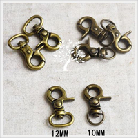 DIY naaien accessoires tas riem kreeft gesp vintage bronskleur metalen sluiting 50 sets/partij