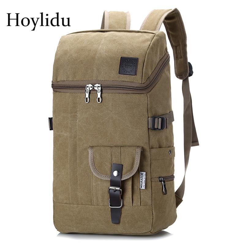 Multifunctional Large Capacity Canvas Backpack Men Mountaineering Travel Bag Trekking Rucksack Large Casual Back Pack Men's Gift