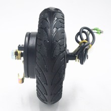 купить 24V 36V 48V 350W Electric Scooter motor Hub Wheel MOTOR Brushless Toothless Scooter Motor for 8inch electrice scooter Wheel дешево