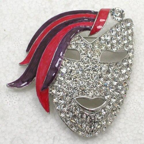 Маска Маскарад Эмаль Горный Хрусталь Pin броши 12 шт. для оптовой могут быть автоматически 55% от цены C101969
