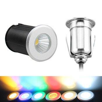 Pochowany LED światła COB wodoodporny IP67 małe wpuszczone W ziemi podziemne lampy 7W 5W 3W reflektor krajobraz zewnętrzny ogród stoczni