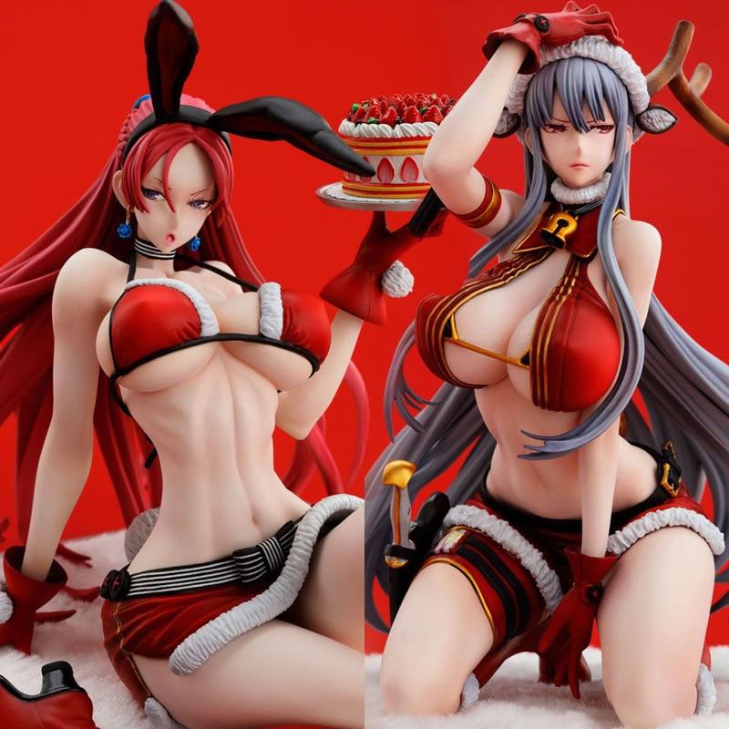 15cm Anime Action Figure Vertex Selvaria Bles Juliana Everbart Bunny Girl X'mas Deer Ver 1/7 Scale Adult Sexy Christmas Doll
