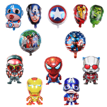 Spiderman Avengers Foil Inflatable Balloons Baby Shower Party Supplies Girl Balloon Birthday Decoration Christmas gifts