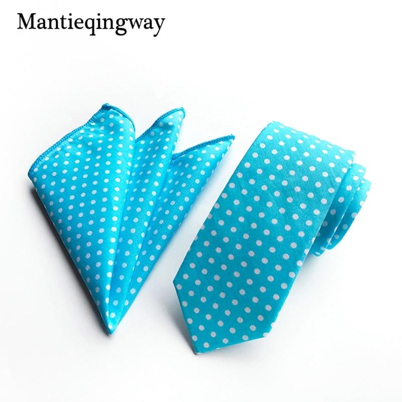 2019 new Men's Tie Handkerchiefs Set Business Cotton Neckties Pockt Square for Wedding Formal Dot Ties Chest Towel Hankies