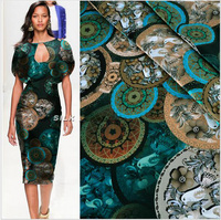 2014 New Arrival Classical Style Real Silk Cheongsam Dress Fabric Dress Fabric Printing Stretch Satin Ancient