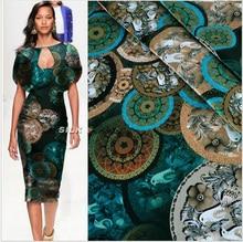 2016 ชุดผ้าชุดผ้าพิมพ์ยืดซาตินสีเขียวโบราณ Cheongsam ใหม่มาถึงสไตล์คลาสสิกผ้าไหม