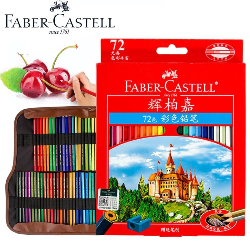 Faber Castell Oil Colored Pencils Professional Premier Lapis De Cor 36 48 72 Colour Sketch Pencil Colouring Drawing Art Set