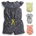 Calidad 100% Algodón Verano Bebé Recién Nacido, ropa, Ropa Niñas Enredaderas Mono Del Mameluco de los Bebés de Manga Corta Marca de Ropa Bebe