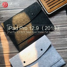 Wool Felt Tablet Sleeve Bag Case For New Apple iPad Pro 12.92018 Pouch Laptop Anti-scratch Shockproof Wholesales