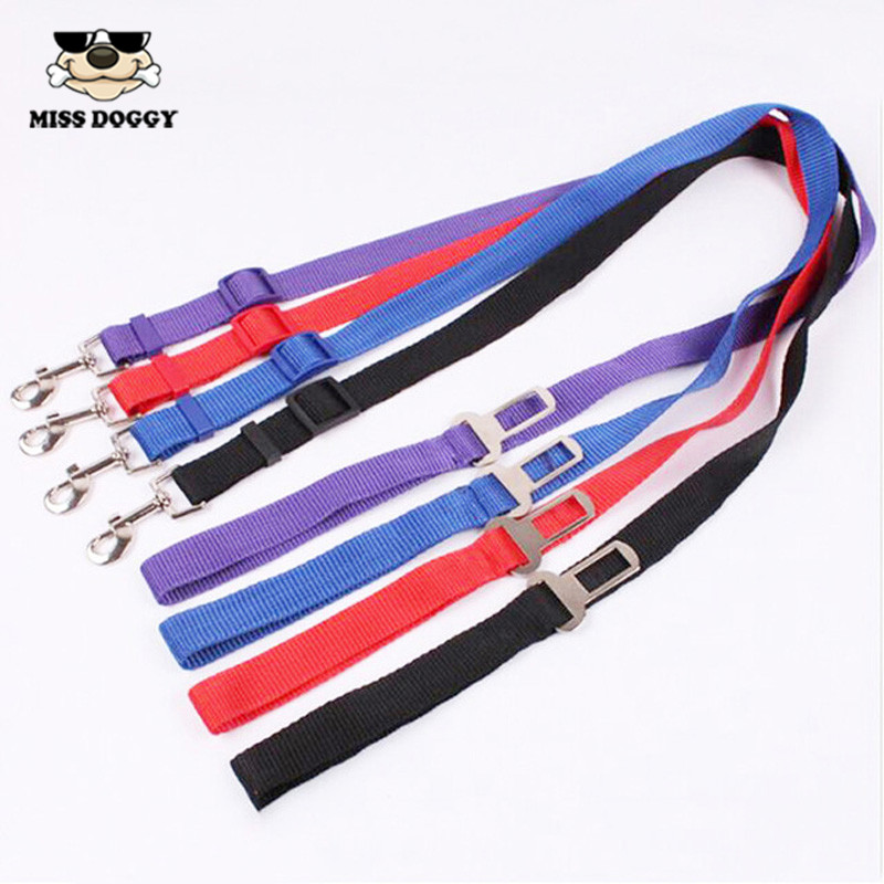 112*2.5cm Adjustable Lengthen Pet Cat Dog Car Safety Seat Belt Harness Vehicle Seatbelt Lead Leash for Dogs 4 Colours