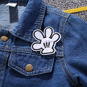 Image 4 - Trẻ Em Mickey Áo Khoác Denim Áo Khoác 2020 Hot Thu Đông Thời Trang Trẻ Em In Áo Khoác Ngoài Cho Bé Bé Trai Bé Gái Lỗ Jeans 3 7Years