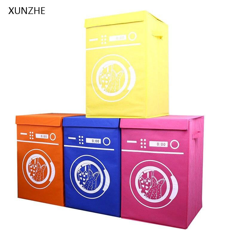XUNZHE Creative Washing Machine Molding Storage Bins Large Capacity Folding Laundry Boxs Clothing Shoes Hats Toy Organizers